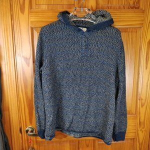 Lucky Brand Blue Knit Hooded Sweatshirt XL